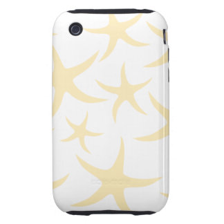Starfish Pattern in Pastel Yellow and White. Tough iPhone 3 Cover