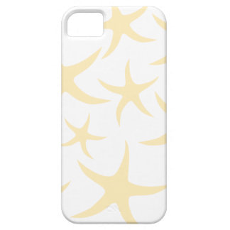 Starfish Pattern in Pastel Yellow and White. iPhone 5 Cases