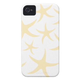 Starfish Pattern in Pastel Yellow and White. Case-Mate iPhone 4 Cases