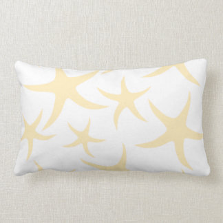 Starfish Pattern in Pastel Yellow and White. Pillows
