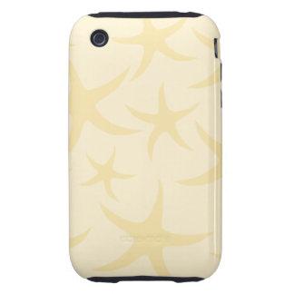 Starfish Pattern in Pastel Yellow. iPhone 3 Tough Case