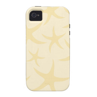 Starfish Pattern in Pastel Yellow. Case-Mate iPhone 4 Cover