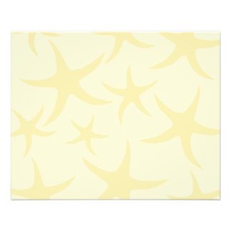 Starfish Pattern in Pastel Yellow. Personalized Flyer