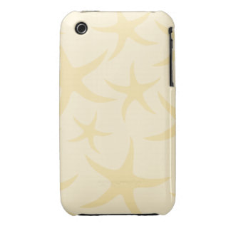 Starfish Pattern in Pastel Yellow. iPhone 3 Covers