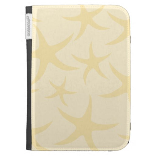 Starfish Pattern in Pastel Yellow. Kindle Covers