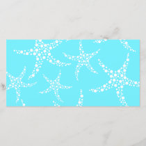 Starfish Pattern in Turquoise and White.