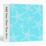 Starfish Pattern in Turquoise and White. Binders