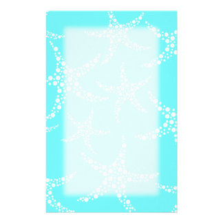 Starfish Pattern in Turquoise and White. Stationery