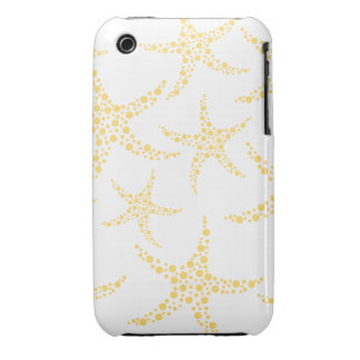 Starfish Pattern in Yellow and White. iPhone 3 Case