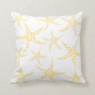 Starfish Pattern in Yellow and White. Pillows