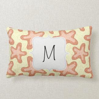 Starfish Pattern, Nautical Sea Life Pillow