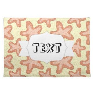 Starfish Pattern, Nautical Sea Life Cloth Placemat