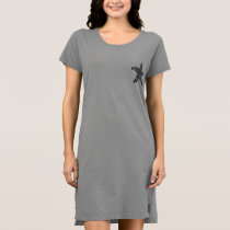 Starfish Pattern T-Shirt Dress
