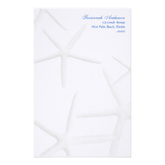 Starfish Personalized Beach Theme Writing Paper Stationery