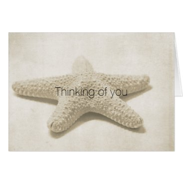 Beach Themed Starfish Personalized Card