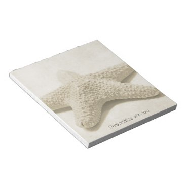 Beach Themed Starfish Personalized Notepad