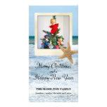 Starfish Polaroid Beach Christmas 1 Photo Card Template