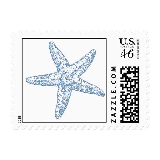 Starfish Postage - Blue