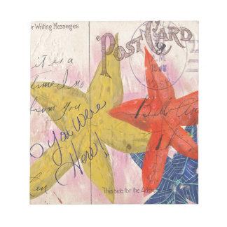 Starfish Postcard Notepad