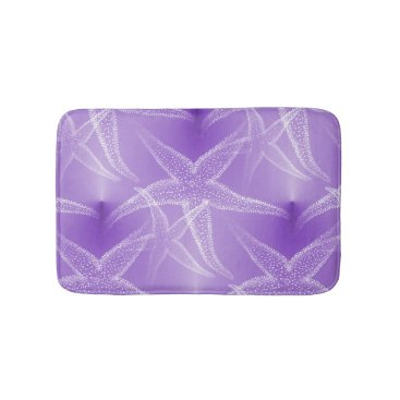 Beach Themed Starfish Purple Beach Bath Mat
