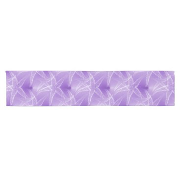 Beach Themed Starfish Purple Beach Table Runner