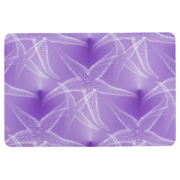 Beach Themed Starfish Purple Lavender Beach Floor Mat