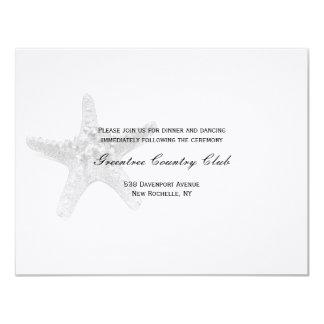 Starfish Reception Card - Black