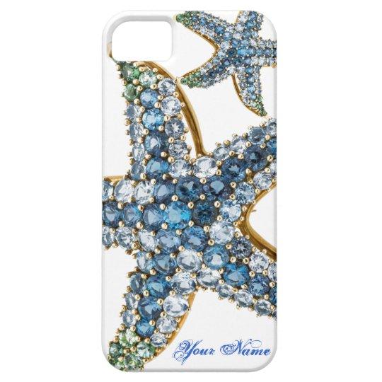 Starfish Rhinestones Costume Jewelry Iphone Case