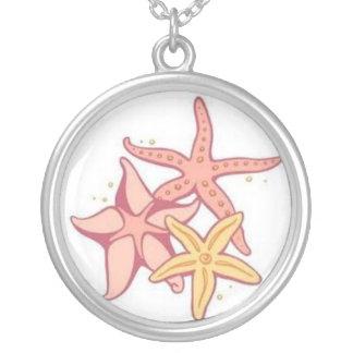 Starfish Round Pendant Necklace