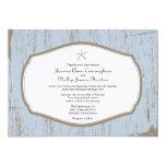Starfish Rustic Beach Wedding 5x7 Paper Invitation Card