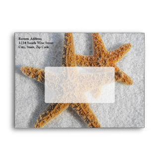 Starfish Sand Beach Ocean Theme Envelope
