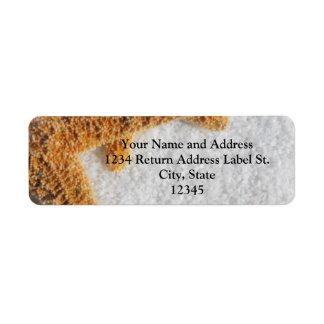 Starfish Sand Beach Ocean Theme Custom Return Address Labels