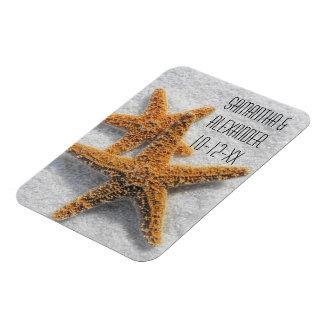 Starfish Sand Beach Ocean Theme Rectangular Magnet