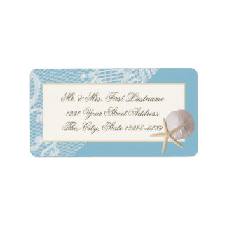 Starfish Sand Dollar and Lace Blue Label