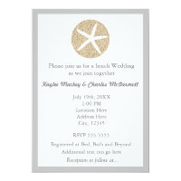 Starfish Sand Dollar Beach Wedding Invitation