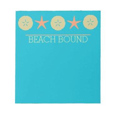 Beach Themed Starfish Sand Dollar Beach yellow orange turquoise Notepad