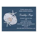 "Starfish Sand Dollar Bridal Shower Invitations 4.5"" X 6.25"" Invitation Card"
