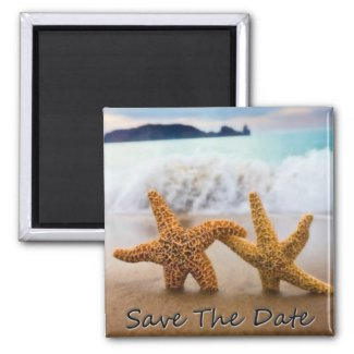 Starfish Save The Date Magnet