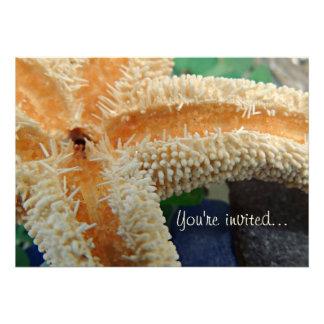 Starfish Sea Glass Invitation