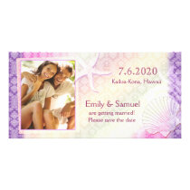 Starfish   Sea Shell Beach Save the Date Photocard Card