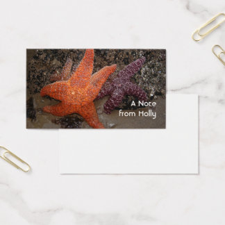 Starfish/Sea Stars, Cannon Beach OR, Photo 1 Business Card