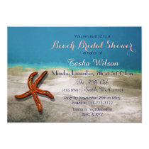 Starfish Seabed Beach Bridal Shower Invites