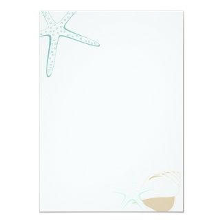 Starfish & Seashell Tropical Beach Invitation