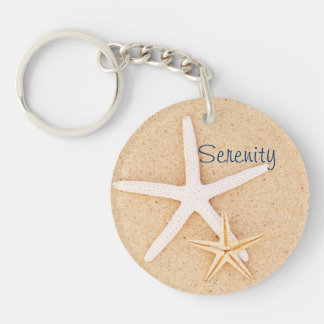 Starfish Serenity Prayer Keychain