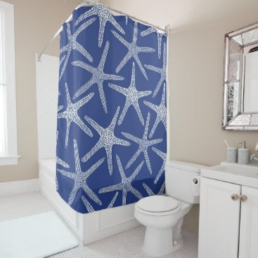 Beach Themed Starfish Shower Curtain