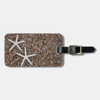 Starfish skeletons on Glass Beach Bag Tag