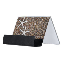 Kauai business card holders cases zazzle starfish skeletons on glass beach desk business card holder reheart Image collections