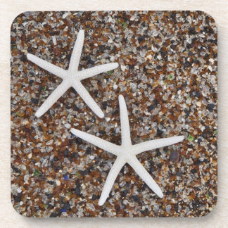 Starfish skeletons on Glass Beach Drink Coaster
