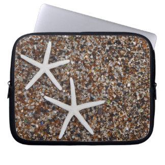 Starfish skeletons on Glass Beach Laptop Sleeves