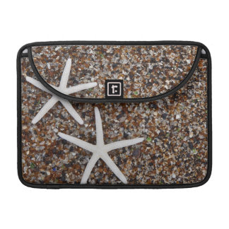 Starfish skeletons on Glass Beach Sleeves For MacBook Pro